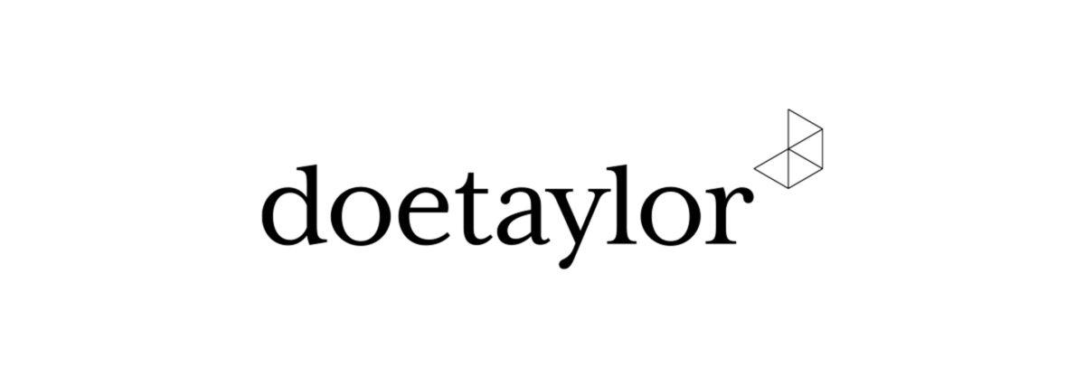 Doetaylor's logomark and wordmark