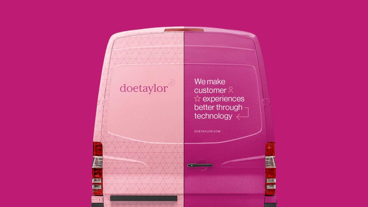 A Doetaylor van with branding wrapper